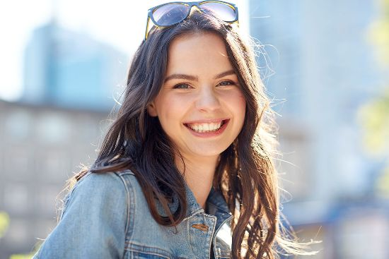 happy woman with a healthy smile